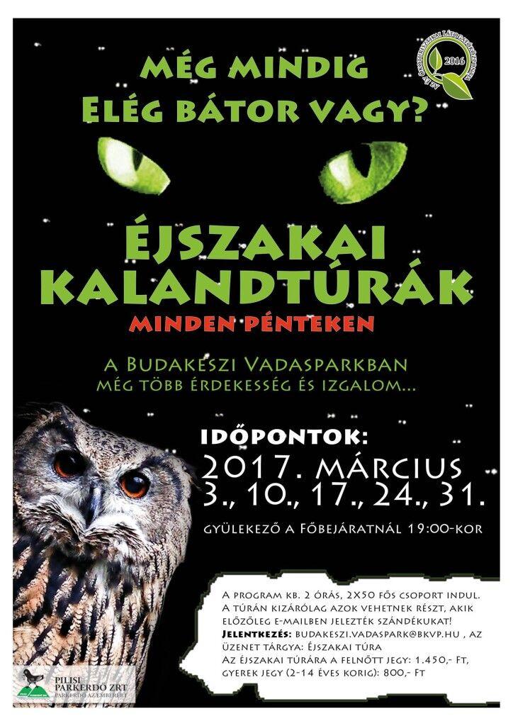 Éjszakai Kalandtúrák a Budakeszi Vadasparkban