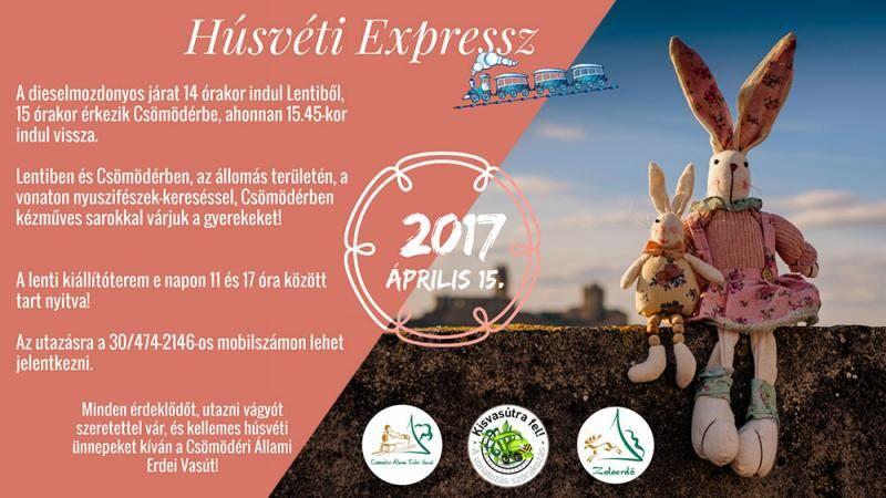 Húsvéti expressz a csömödéri állami erdei vasúton